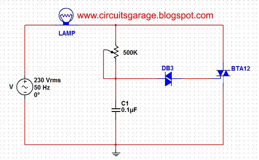 Light Dimmer Circuit  sc 1 st  Circuits Garage & Light dimmer circuit using DIAC and TRIAC ~ Circuits Garage