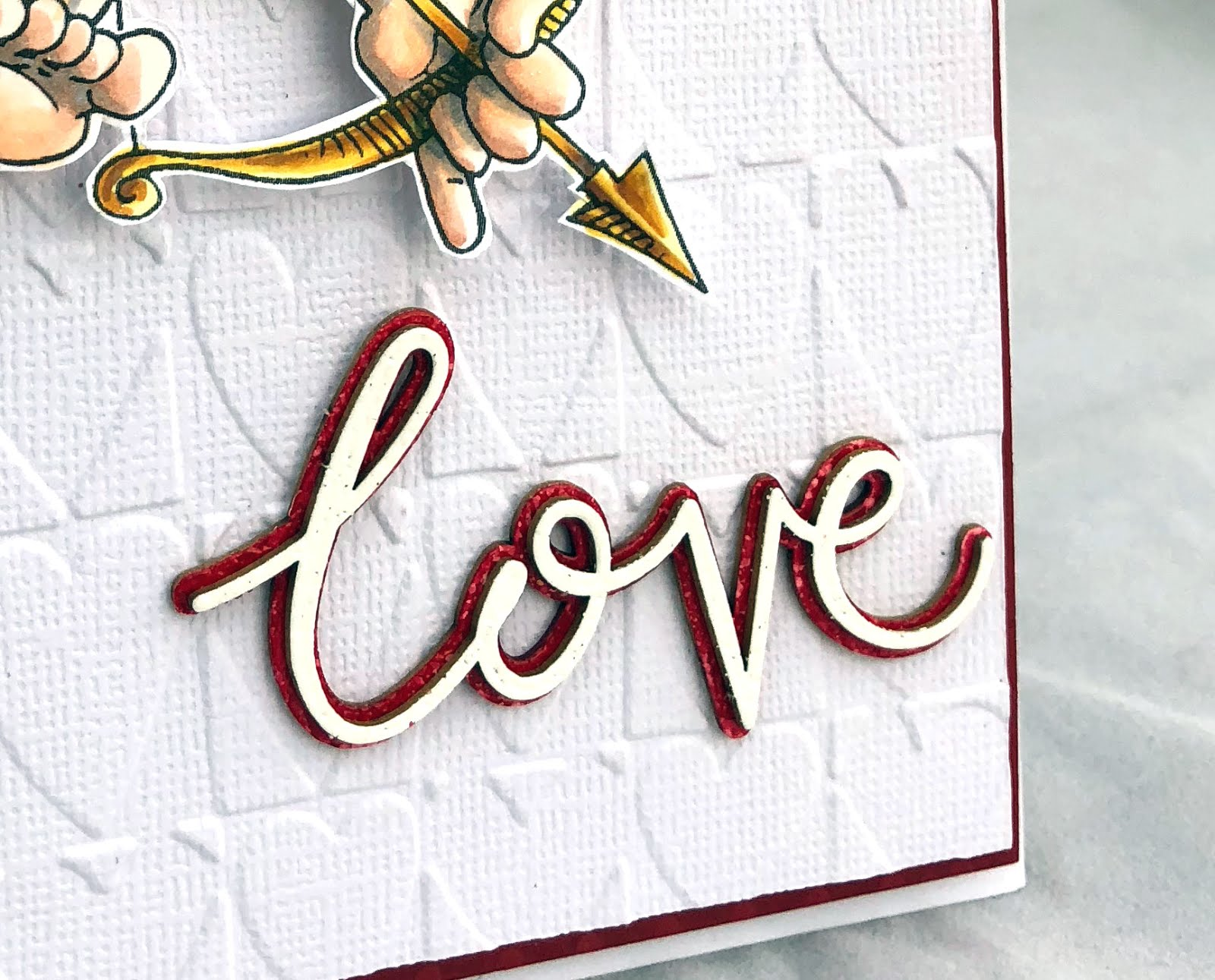Keeping It Simple I Added A Chipboard Sentiment Love From Make Crafty Heat Embossed Both Pieces Of The Word With Fine White Embossing