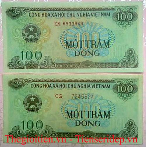 tiền 100đ cotton xanh