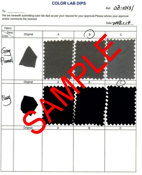 Fabric Color Approval Procedure Online Clothing Study