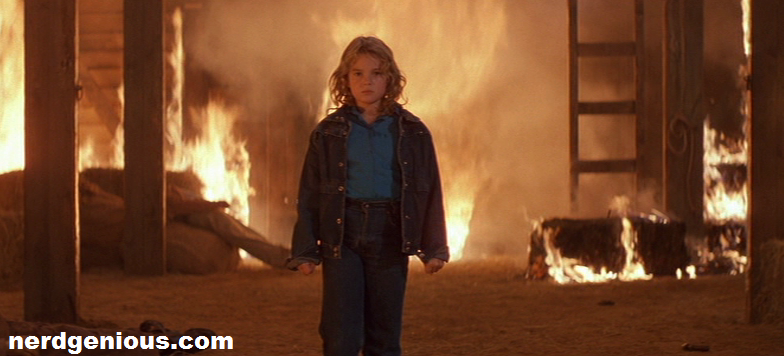 Drew Barrymore burns down the house in Firestarter