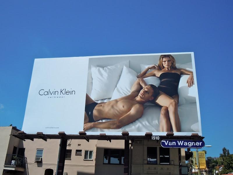 Calvin Klein sexy swimwear billboard