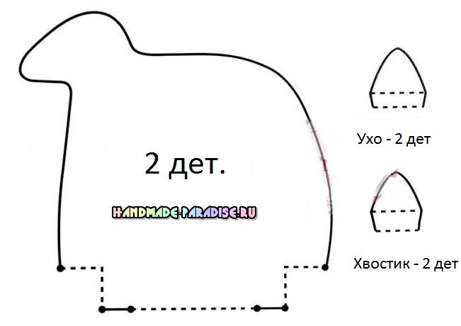 Текстильный олень. Выкройка (5)