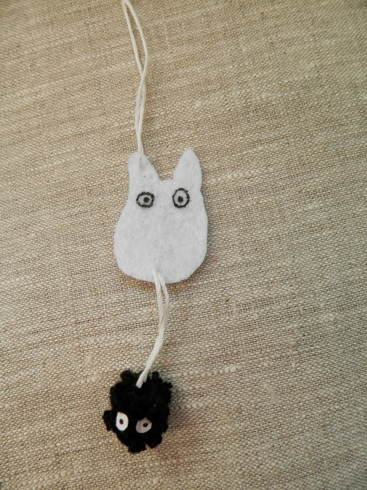 Coton et Création : portes clés Totoro