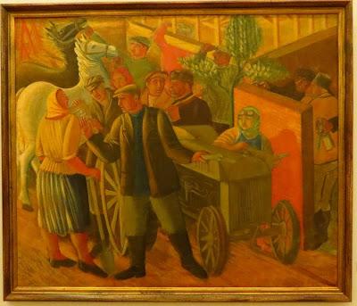 Василь Седляр, У сельскохозяйственной машины, 1931