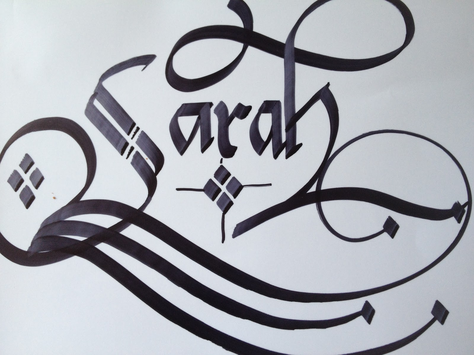 Calligraphy art girl names in michelle sarah