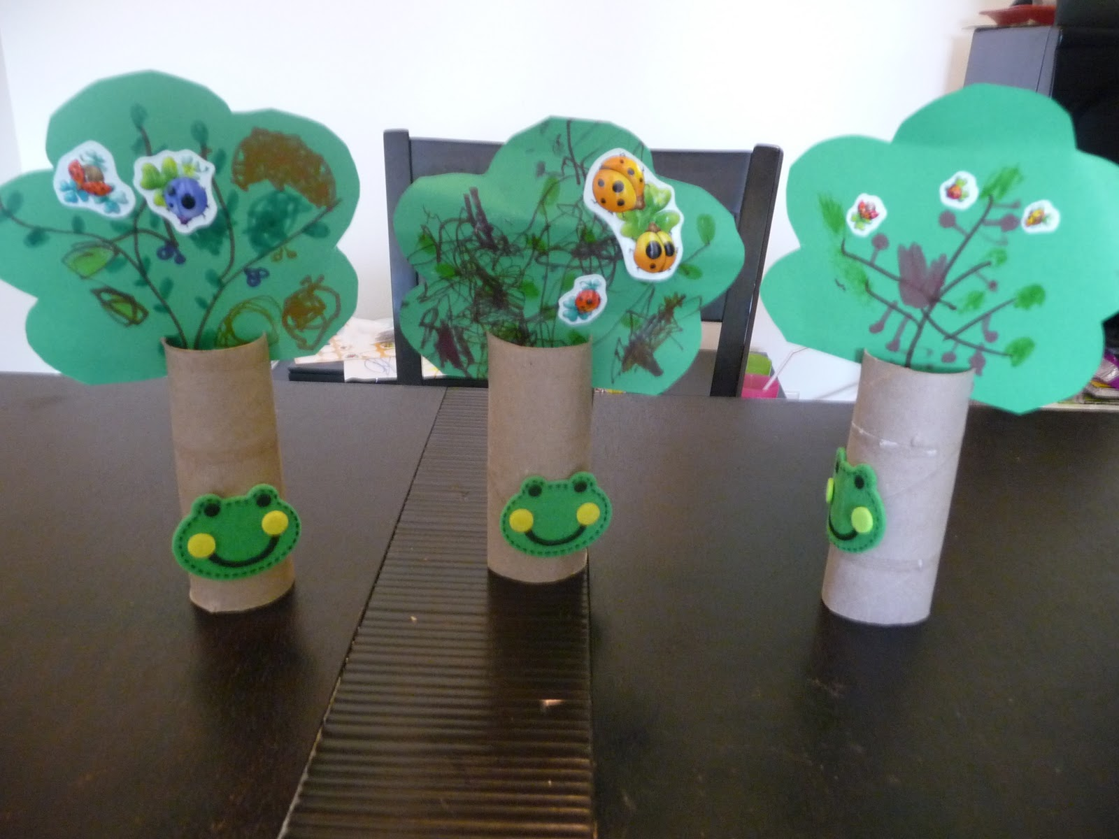 Toilet Roll Craft Ideas For Kids Part - 29: Depends Mostly On The Age Of The Kids, Iu0027m Working With 3 Year Old, They  Just Love The Coloring Part.