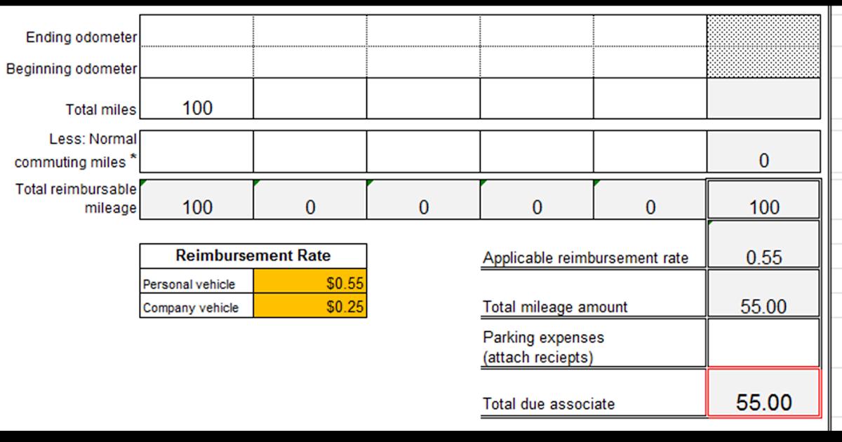 excel spreadsheets help  mileage reimbursement form template