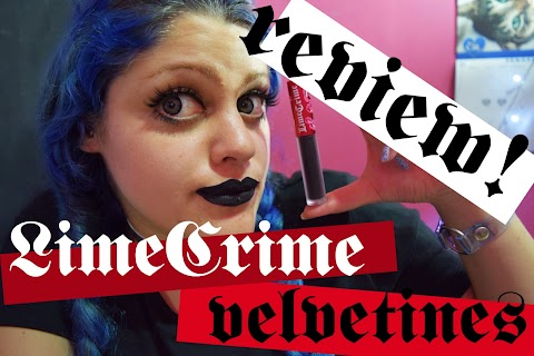 "Lime Crime Velvetines ""Black Velvet"" matte liquid lipstick review"