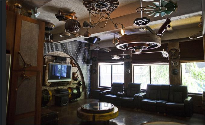 Steampunk Interior Design Ideas creative colorful office interior design Zeppelin Inspired Loft