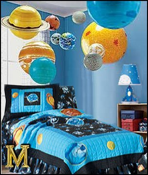 planets and outer space travel decorating ideas
