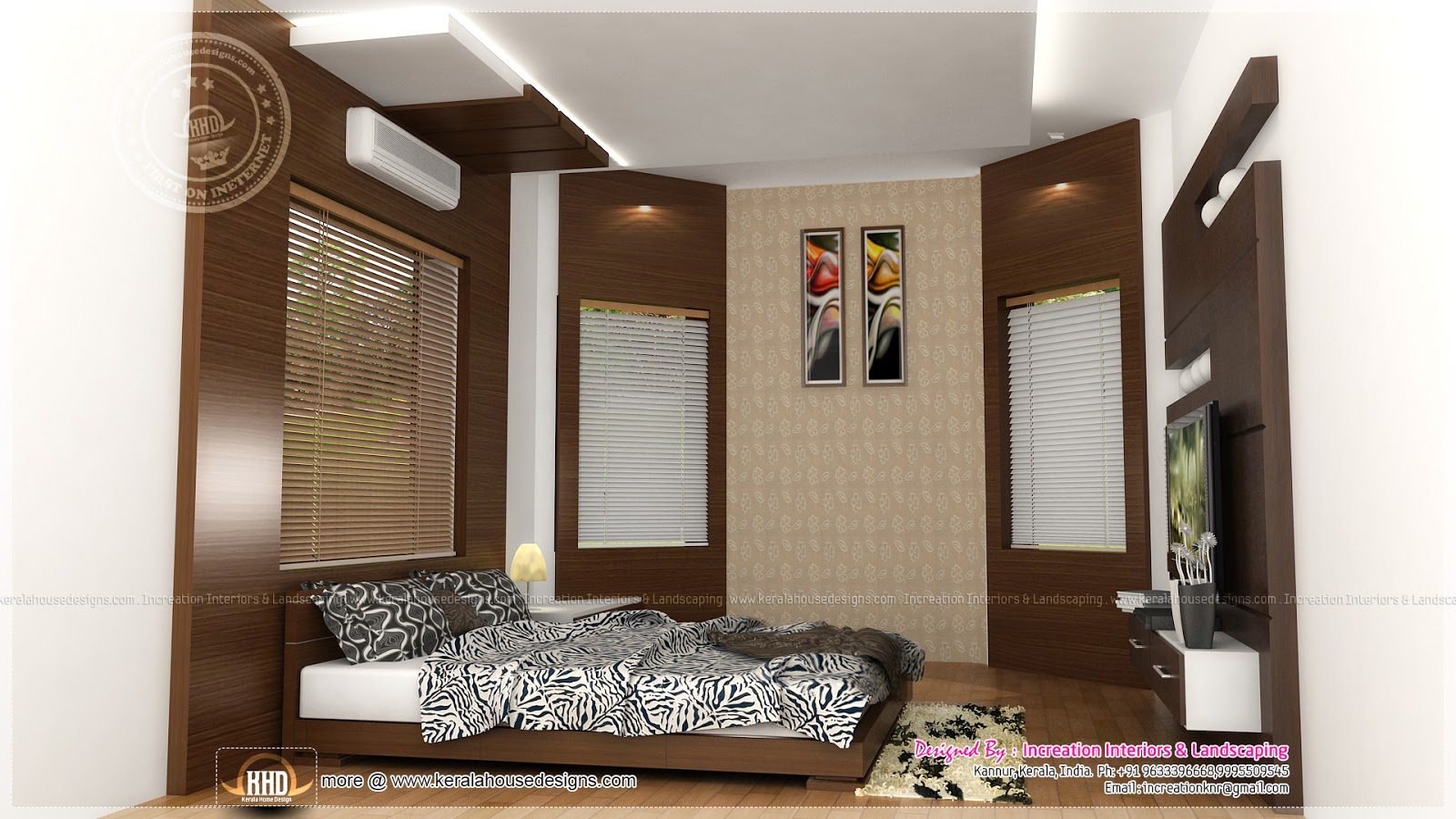 Interior designs by increation kannur kerala kerala for Bedroom designs middle class