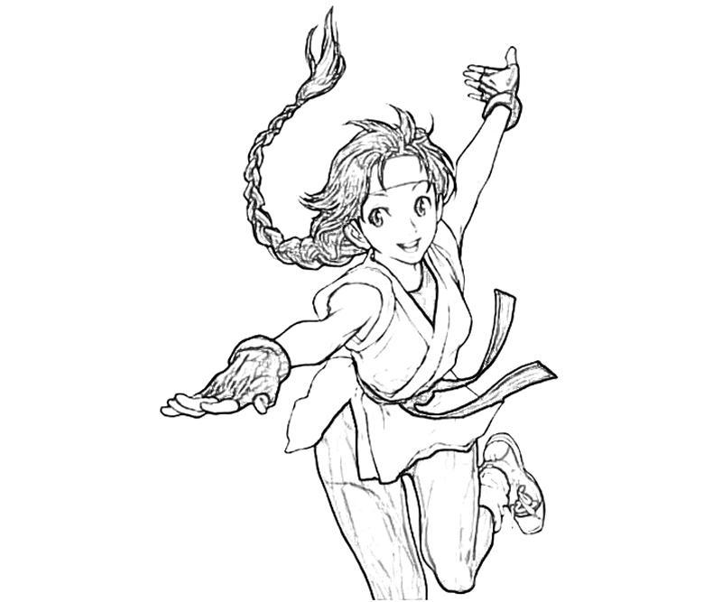 printable-art-of-fighting-yuri-sakazaki-character_coloring-pages