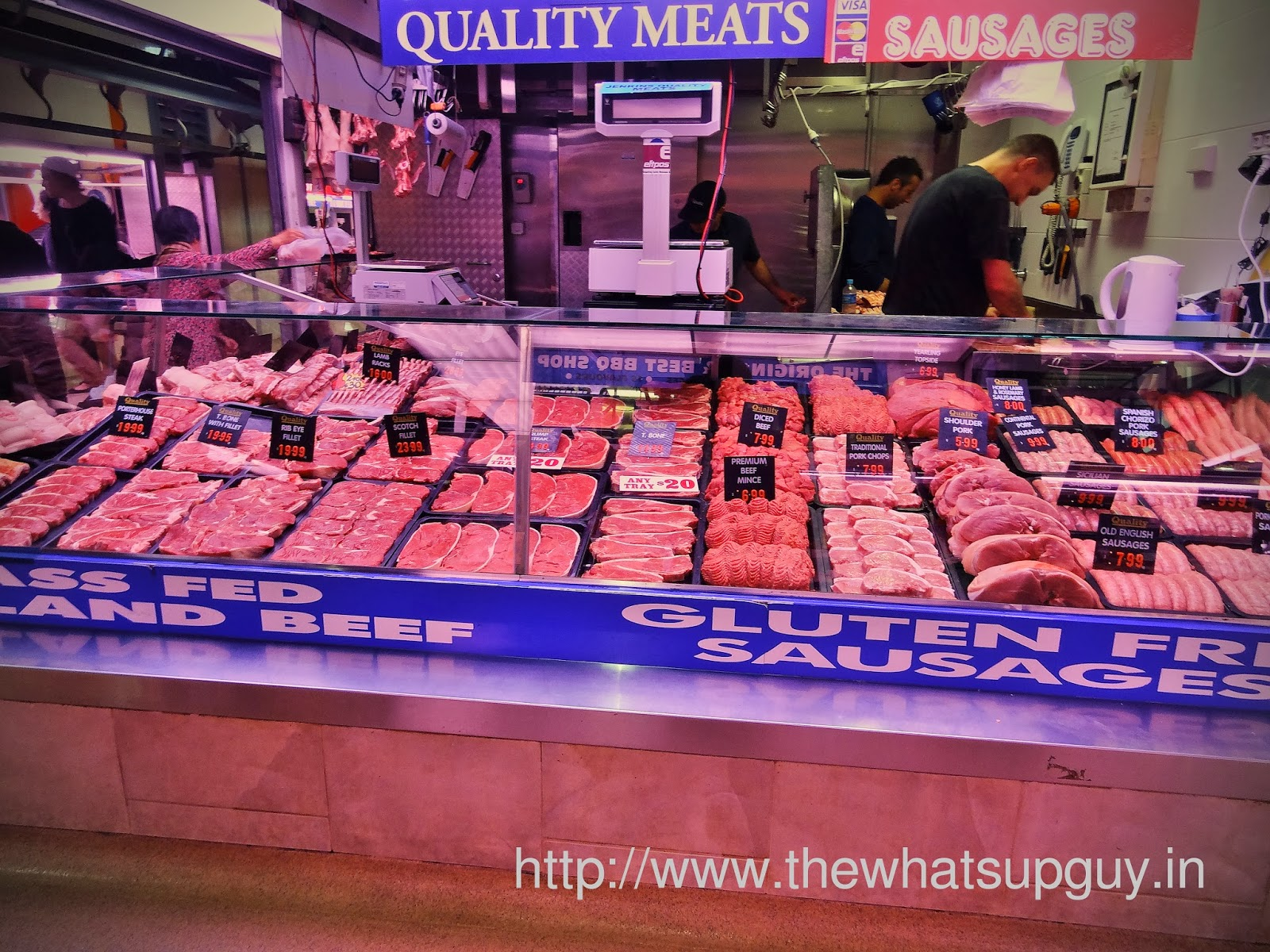 Meat in Queen Victoria Market