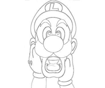 #7 Luigi Coloring Page