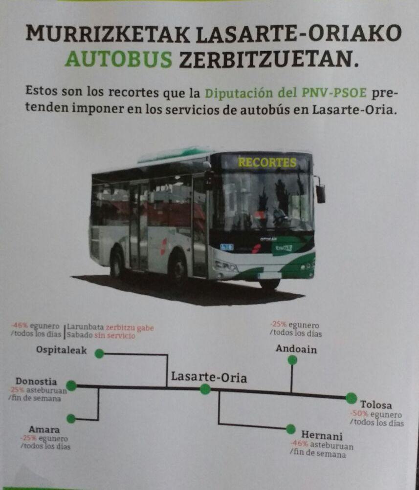 Autobus zerbitzuan murrizketarik ez! sinadura bilketa