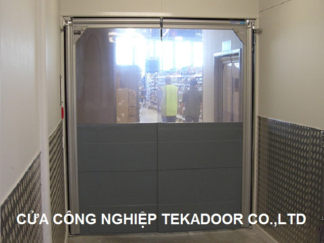 Flexible Swing door Cửa PVc mở xoay tự động