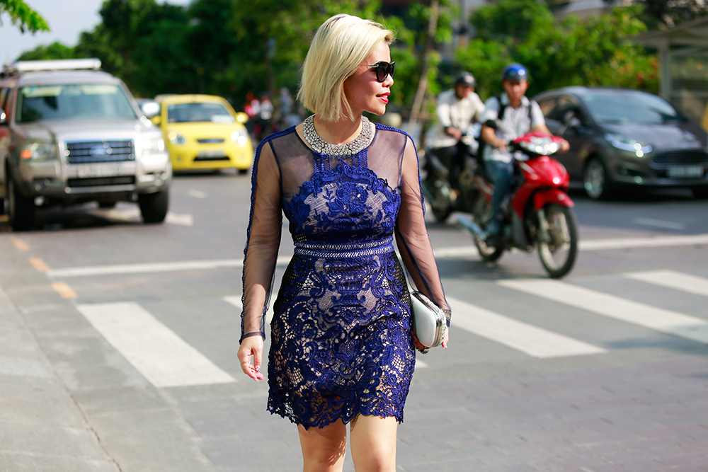 Crystal Phuong- Vietnam Fashion Week Street style day 2