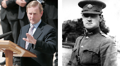 Enda Kenny and Michael Collins