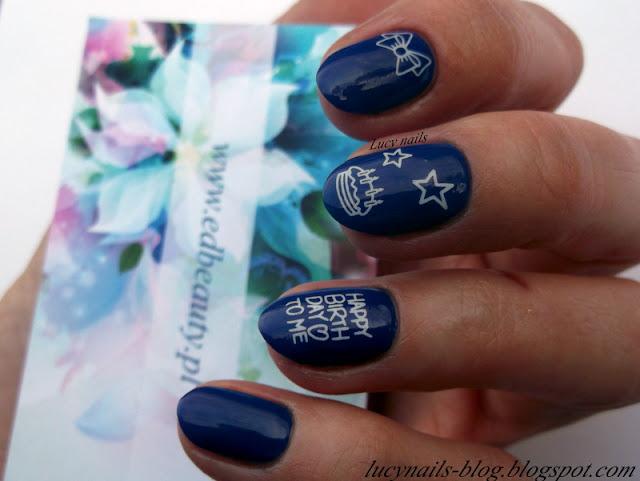 Naklejki urodzinowe EDbeauty - Profesjonalne ozdoby do paznokci