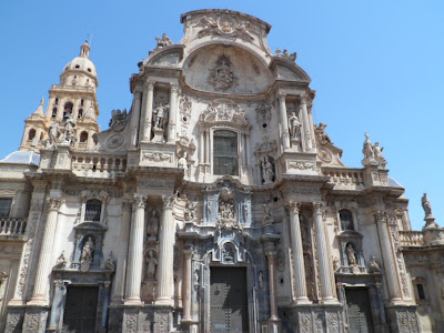 Front of Murcia cathedral, Spain