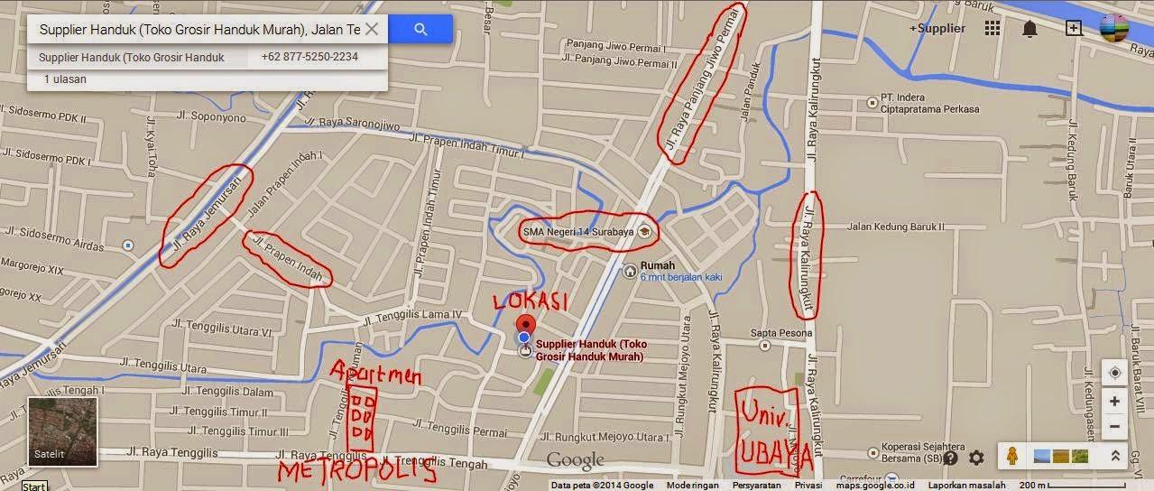 Peta Lokasi Of SupplierHanduk