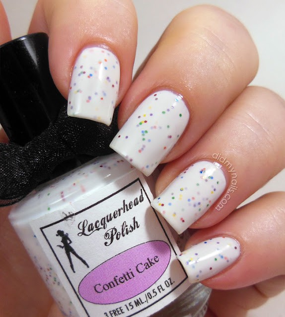 Nail Cake October 2013: Did My Nails: Lacquerhead Polish Confetti Cake