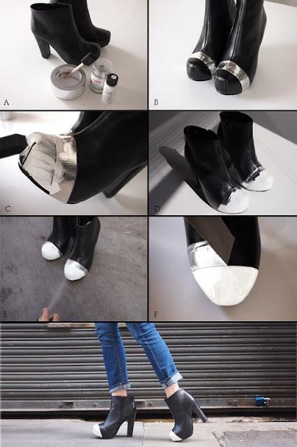 Переделка обуви из старой в стильную