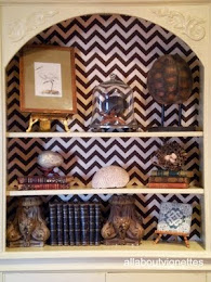 My Chevron-Backed Bookcases