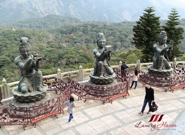 offering of six devas tian tan buddha