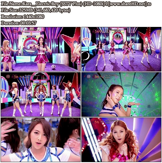 Download PV Kara - Electric Boy (SSTV Plus Full HD 1080i)