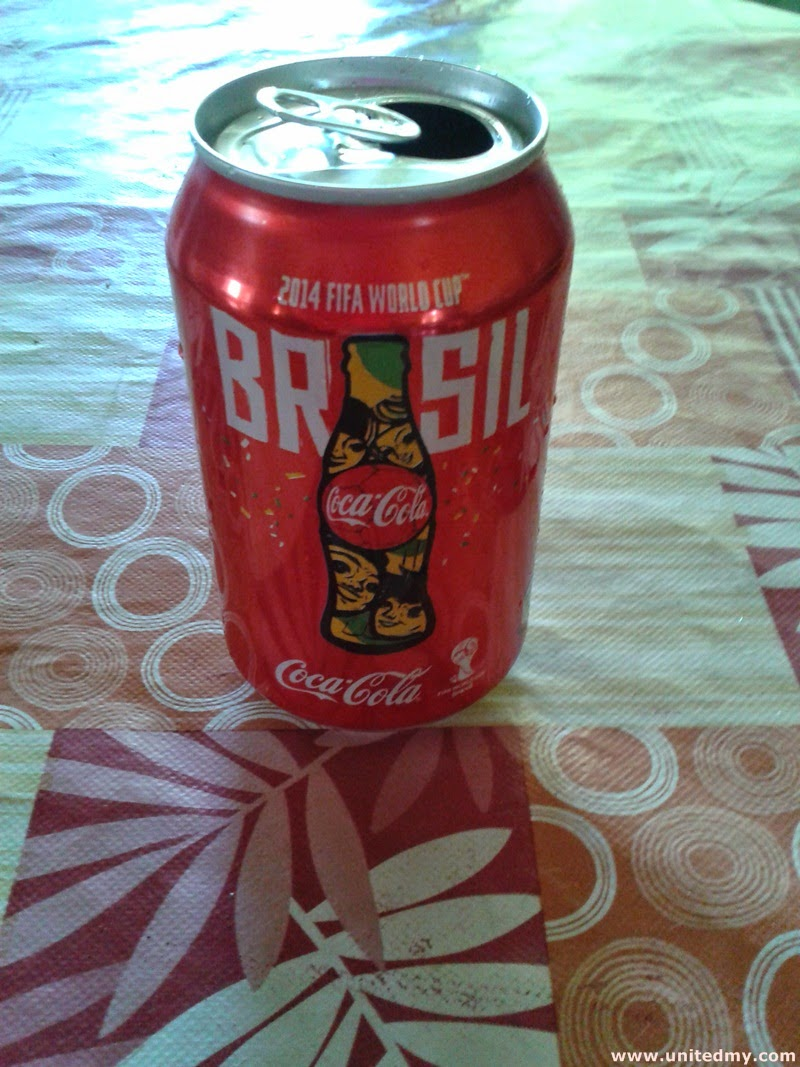 Coca-cola imprinted Brazil 2014 FIFA World Cup