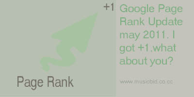 Page Rank Update 2011 may