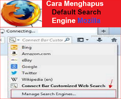 Cara Menghapus Default Search Engine Mozilla