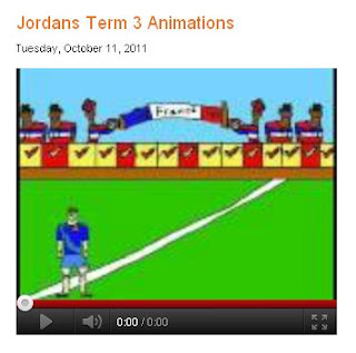 Screen image of Jordan's blog post