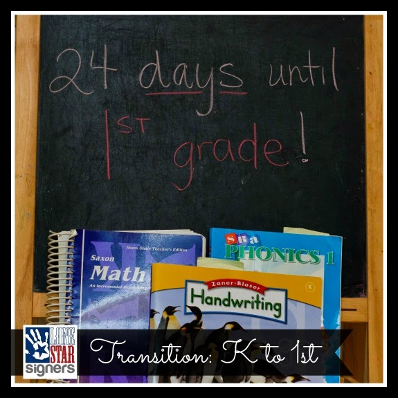 Homeschooling: Kindergarten to 1st Grade Transition