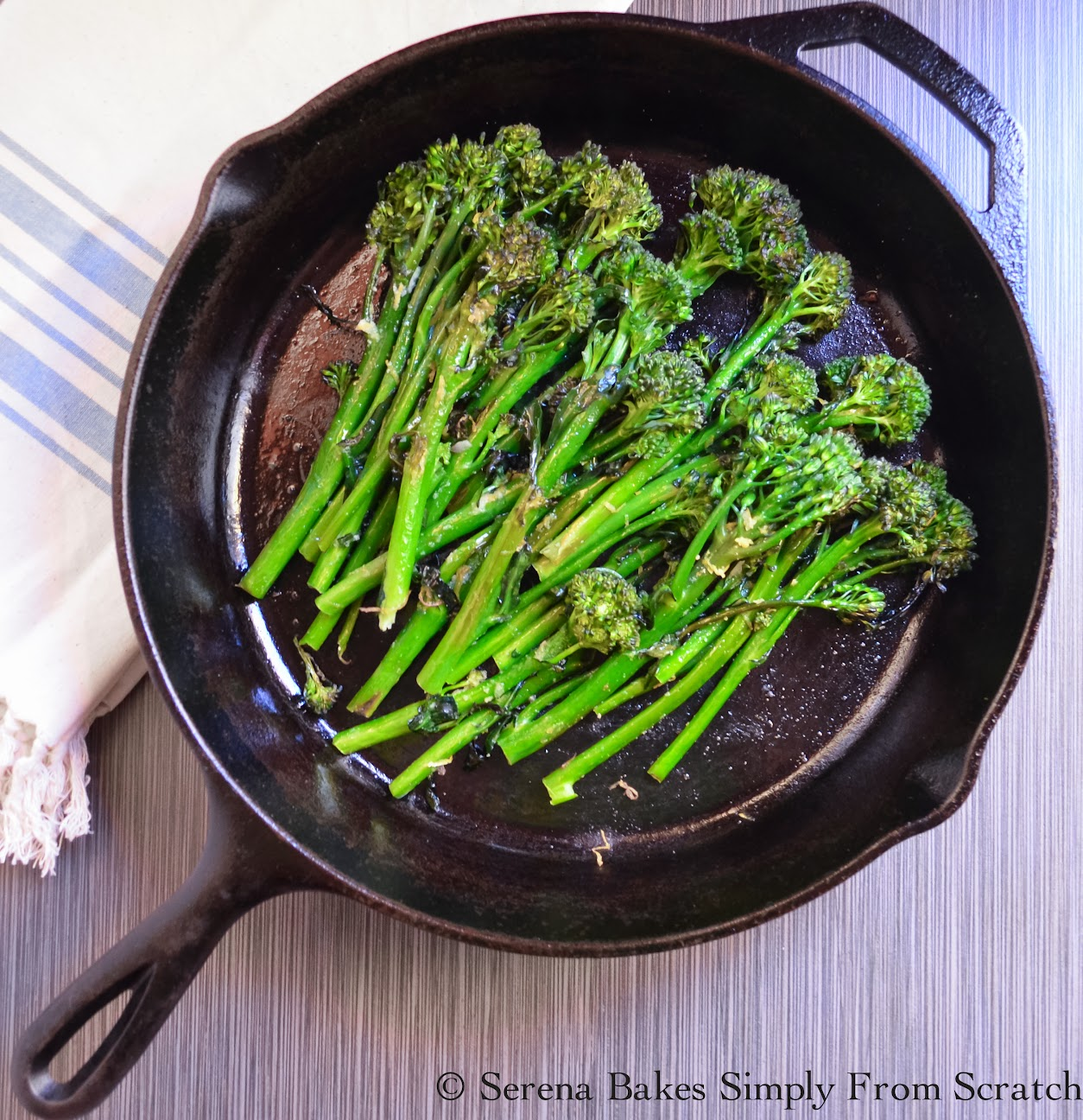 Oven Roasted Broccoli or Broccolini. So easy and healthy. | Serena Bakes Simply From Scratch