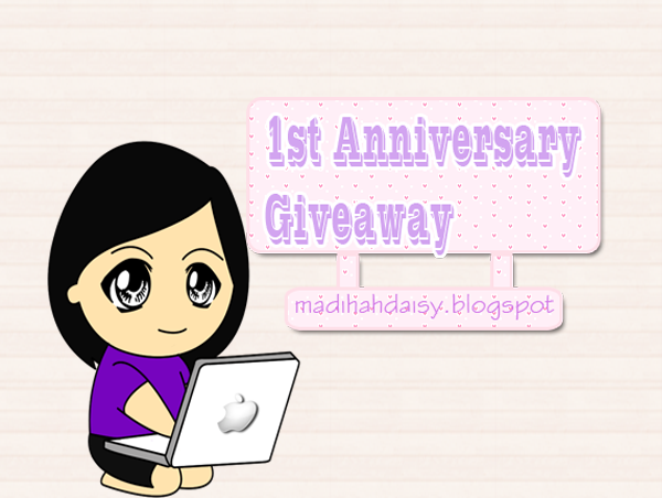 1st Anniversary Giveaway by Madihah