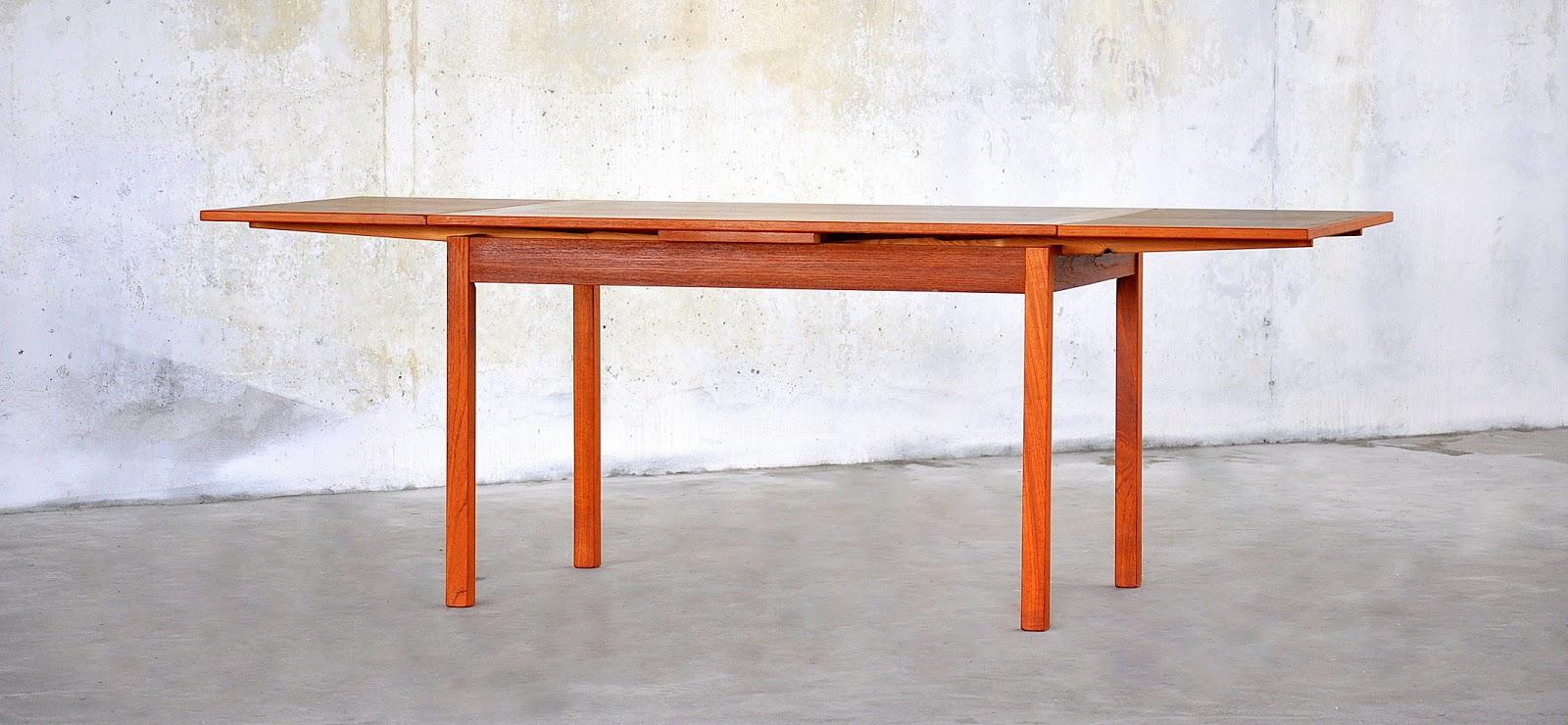 select modern danish modern teak expandable dining room table