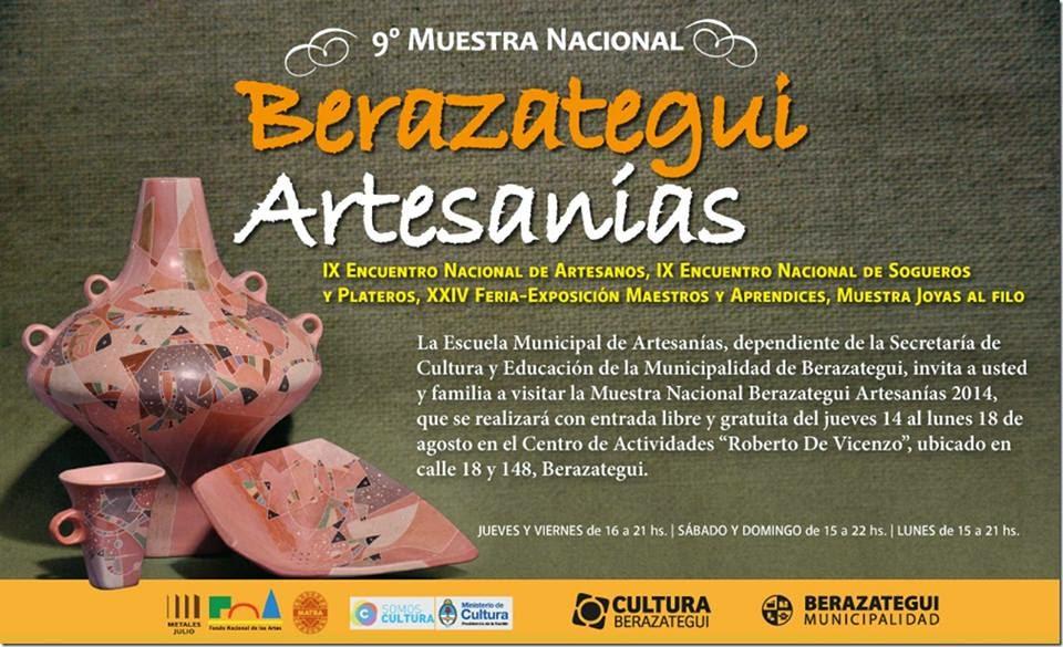 "MUESTRA NACIONAL DE ARTESANIAS BERAZATEGUI. Stella Grandi 1er. Premio en Fieltro ""PRESENTE"""