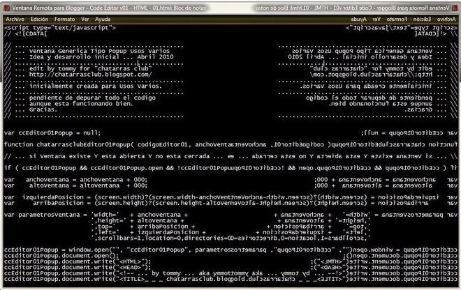 Ventana Code Editor v01 Blogger