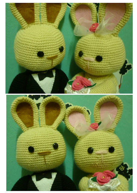 amigurumi crochet wedding bunny doll cute kawaii pattern couple idea car decoration