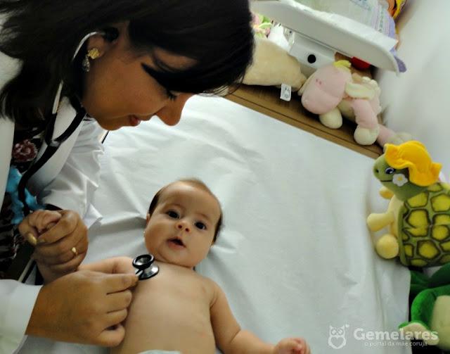 Primeira consulta com o pediatra