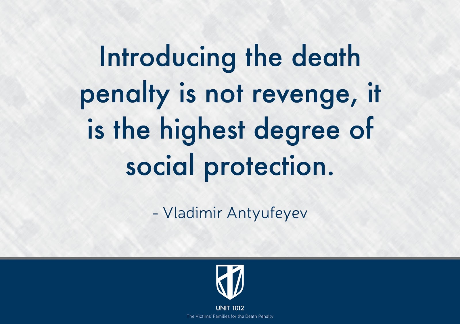 unit the victims families for the death penalty death  death penalty is a form of social protection pro death penalty quote