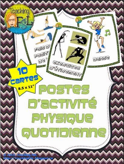 10 affiches pour des postes d'APQ dans la salle de classe Teaching FSL