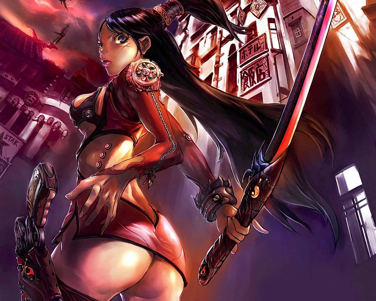 Samurai warrior nude skin erotica clips