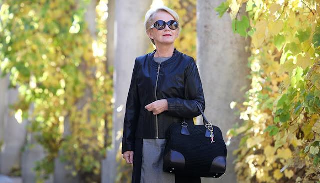 nowoczesna moda po 50-tce - stylizacja z żakietem