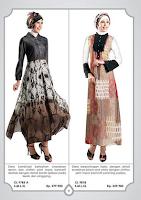 Contoh Model Baju Batik Muslim Modern Kain Brokat
