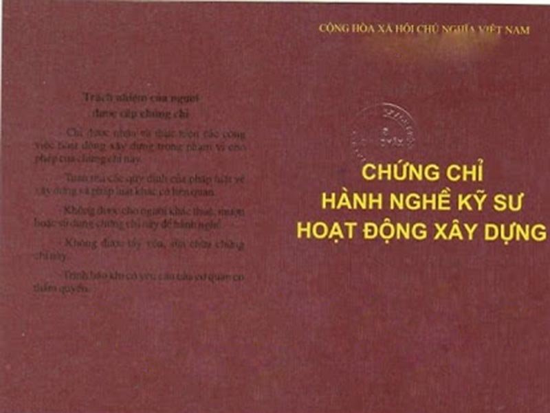 Chung chi hanh nghe thiet ke xay dung