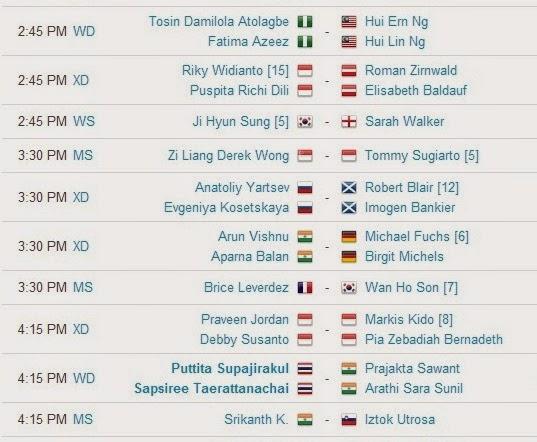 Jadwal Pertandingan BWF World Championships 2014 Hari Kedua 3